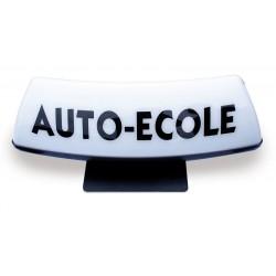 Panneau de toit Auto-Ecole blanc
