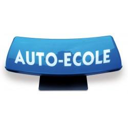 Panneau de toit Auto-Ecole courbé fond bleu - écriture blanche (non lumineux)