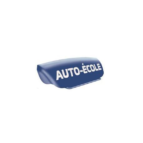 Panneau de toit Auto-Ecole creux bleu - Lettres blanches