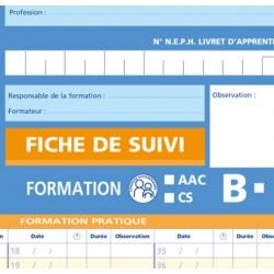 Fiche de suivi auto-école pour formation B / AAC / CS
