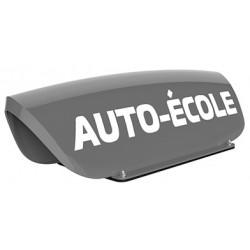 Panneau de toit Auto-Ecole creux gris - Lettres blanches