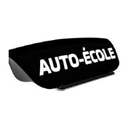 Panneau de toit Auto-Ecole creux noir - Lettres blanches