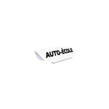 Panneau de toit Auto-Ecole creux blanc - Lettres noires