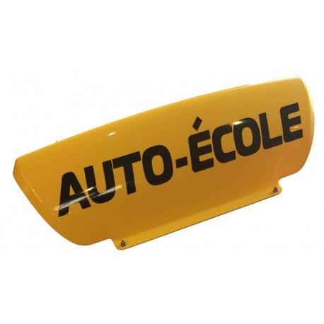 Panneau de toit Auto-Ecole creux Jaune - Lettres noires