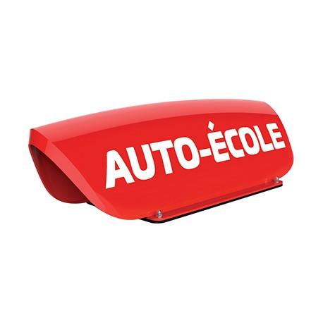 Panneau de toit Auto-Ecole creux rouge - Lettres blanches