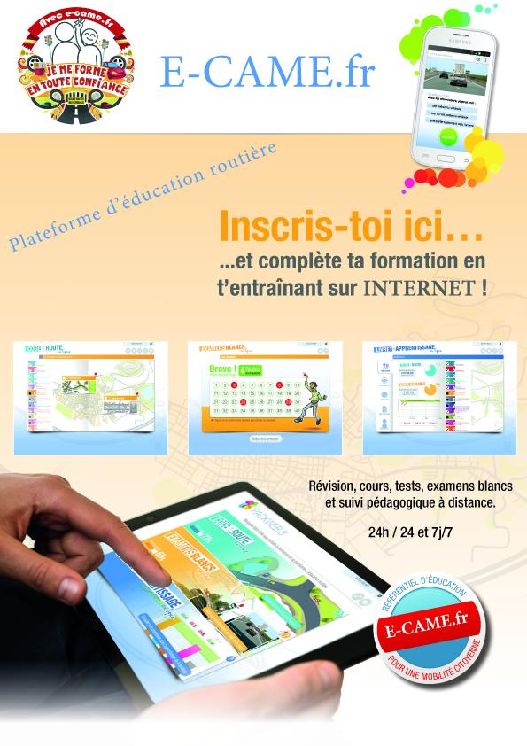 Code de la route sur e-came.fr