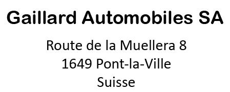 Gaillard Automobiles SA - 1649 Pont-la-Ville - Suisse